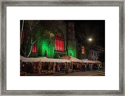 The Salem Witch Museum Halloween Weekend Salem Ma Framed Print by Toby McGuire