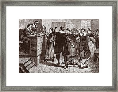 The Salem Witch Trials Framed Print by American School