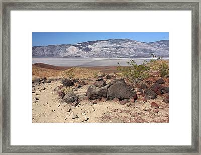 The Salt Flats Of Death Valley Framed Print by Christine Till