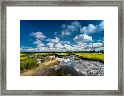 The Salt Marshes, Wellfleet Ma Framed Print by Dapixara Art