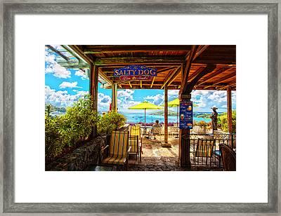 The Salty Dog Cafe St. Thomas Framed Print
