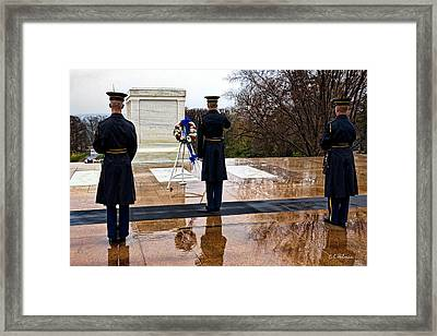 The Salute Framed Print