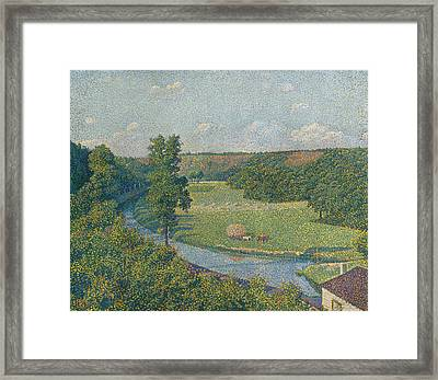 The Sambre Valley Framed Print by Theo van Rysselberghe