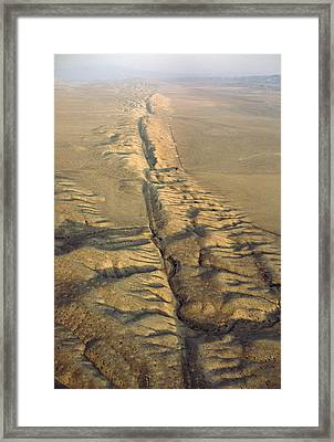 The San Andreas Fault Slashes Framed Print by James P. Blair