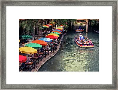 The San Antonio Riverwalk - Texas Art Framed Print