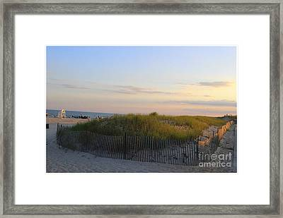 The Sand Dunes Of Long Island Framed Print