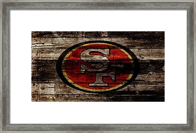 The San Francisco 49ers 2w Framed Print by Brian Reaves