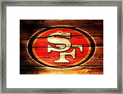 The San Francisco 49ers 3c Framed Print by Brian Reaves