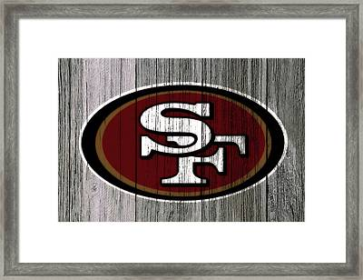 The San Francisco 49ers 4c    Framed Print by Brian Reaves