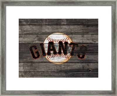 The San Francisco Giants 3f   Framed Print by Brian Reaves