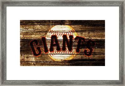 The San Francisco Giants 4a         Framed Print by Brian Reaves