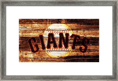 The San Francisco Giants 4b         Framed Print by Brian Reaves