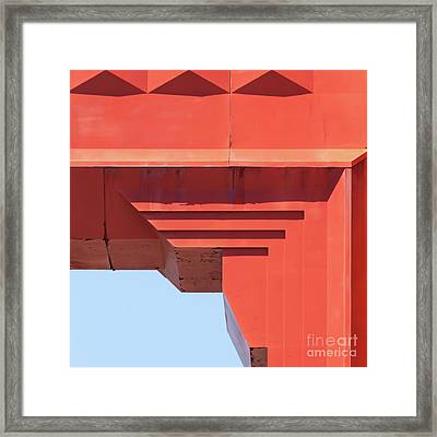 The San Francisco Golden Gate Bridge 5d2990sq Framed Print