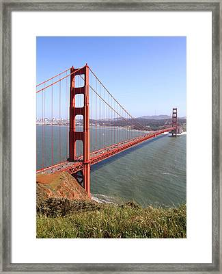 The San Francisco Golden Gate Bridge . 7d14504 Framed Print by Wingsdomain Art and Photography