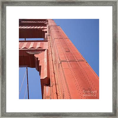 The San Francisco Golden Gate Bridge Dsc6189sq Framed Print