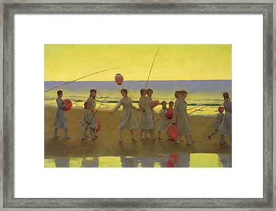 The Sand Bar  Framed Print by Thomas Cooper Gotch