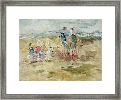 The Sand Castle Framed Print by Edward Wolverton