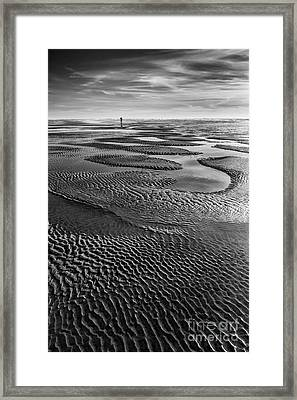 The Sand Pattern Framed Print by Masako Metz