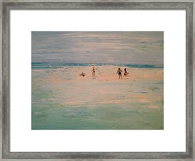 The Sandbar Framed Print