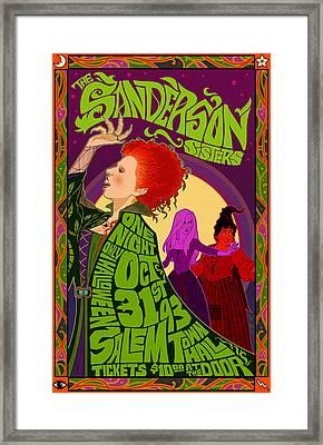 The Sanderson Sister Live In Concert Framed Print