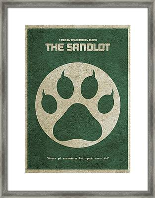 The Sandlot Alternative Minimalist Movie Poster Framed Print by Ayse Deniz