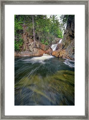 The Sandy River At Smalls Falls Framed Print