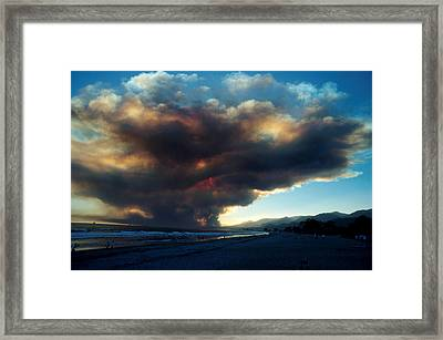 The Santa Barbara Fire Framed Print by Jerry McElroy