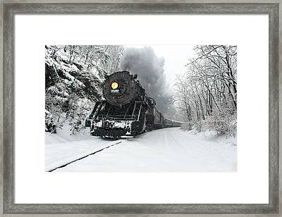 Framed Print featuring the photograph The Santa Express by Bernard Chen
