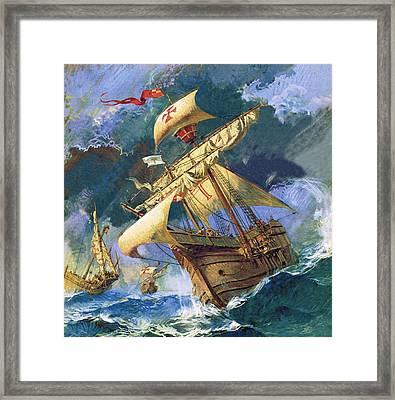 The Santa Maria Framed Print by English School