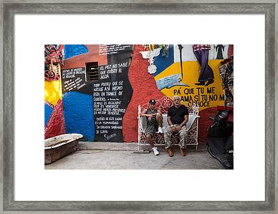 The Santeria Artist In Havana Framed Print by Peter Bates