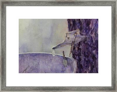 Framed Print featuring the painting The Sap Is Running by Kim Fournier