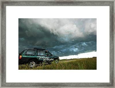 The Saskatchewan Whale's Mouth Framed Print by Ryan Crouse
