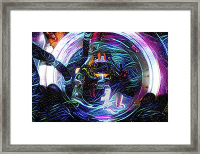 The Sat Diver Framed Print