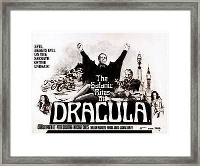 The Satanic Rites Of Dracula, Center Framed Print by Everett