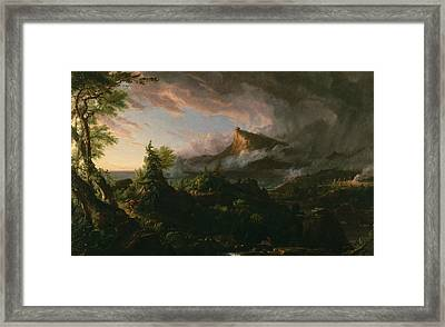 The Savage State Framed Print by Thomas Cole