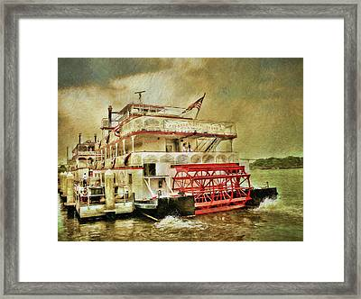 The Savannah River Queen Framed Print by John Adams