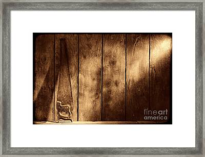 The Saw Framed Print by American West Legend By Olivier Le Queinec