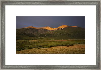The Sawtooth Framed Print by Paul Crossland