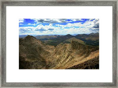 The Sawtooth Under Selective Light Framed Print by Brian Gustafson