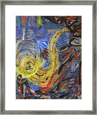 The Sax Man Framed Print