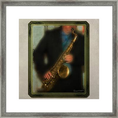 The Sax Player Framed Print
