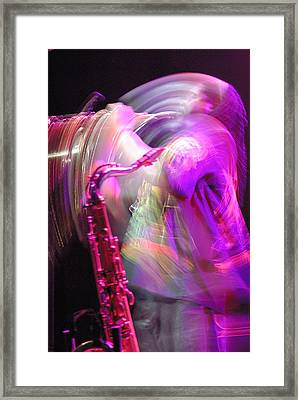 The Saxophone Player Framed Print by Gerry Walden