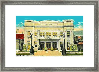 The Sayre Theatre And Opera House In Sayre Pa In 1925 Framed Print