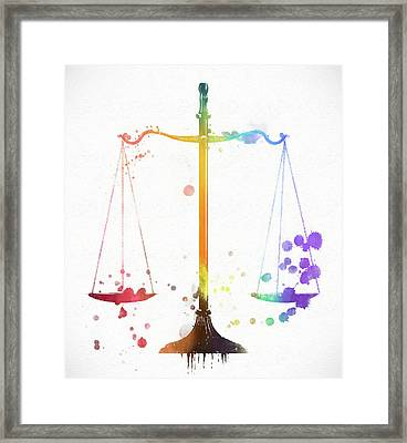 The Scale Of Justice Framed Print
