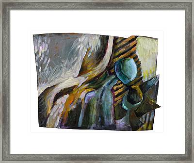 The Scarf The Glass And Caraffe Framed Print by Piotr Antonow