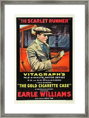 The Scarlet Runner 1916 Framed Print by Mountain Dreams