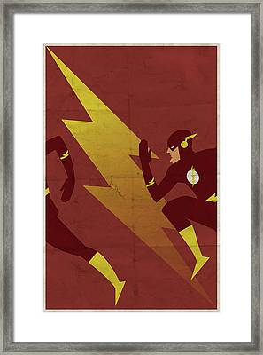 The Scarlet Speedster Framed Print