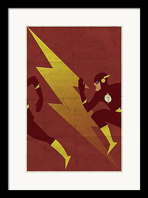 Lightning Digital Art Framed Prints
