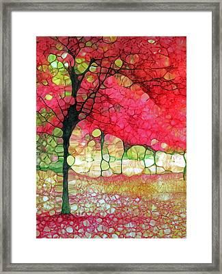 The Scarlet Tree Framed Print