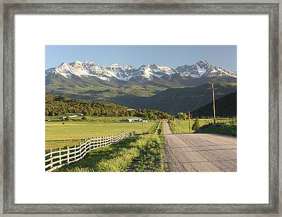 The Scenic Route Framed Print by Eric Glaser